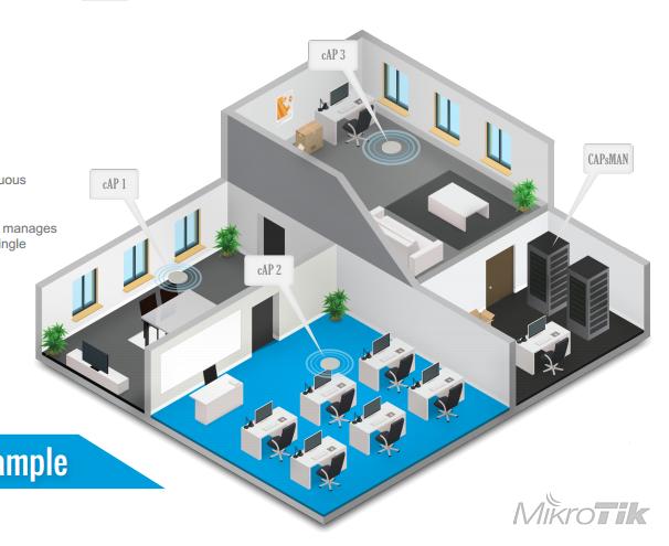 Бесшовный роуминга MikroTik WiFi, проект по внедрению и настройке