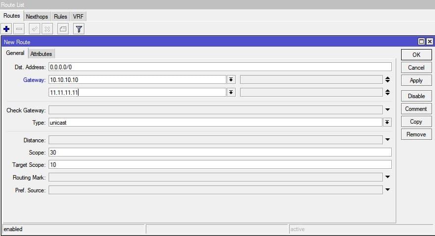 Настройка нескольких провайдеров на MikroTik, балансировка нагрузки