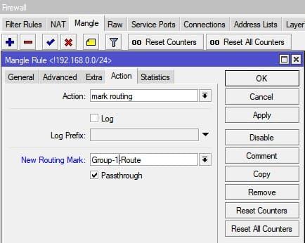 Настройка нескольких провайдеров на MikroTik, mark routing