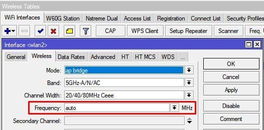 Выбор канала(частоты) WiFi для роутера или точки доступа MikroTik, настройка автоматического выбора частоты на 5 ГГц